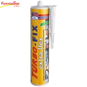 Turbo-Fix Extra Flex 290ml λευκή & γκρί